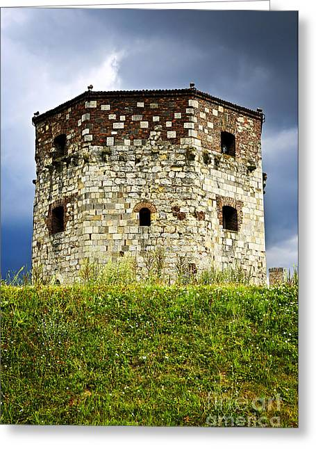 Fortification Greeting Cards - Nebojsa tower in Belgrade Greeting Card by Elena Elisseeva