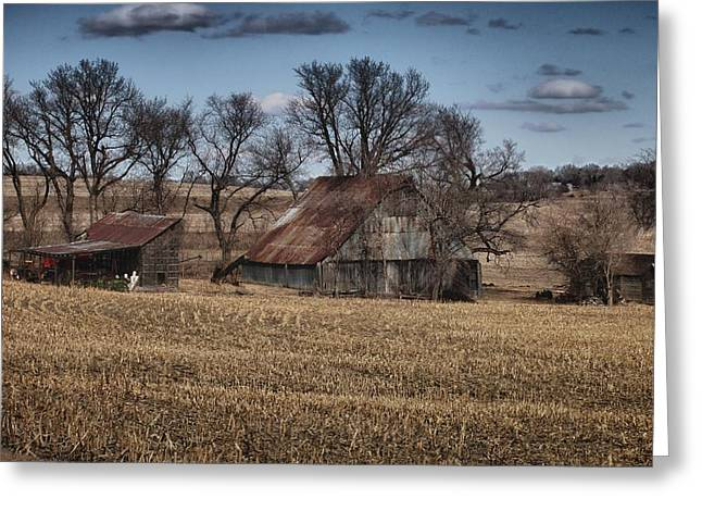 Hdr Landscape Greeting Cards - Nebraska Farm Greeting Card by Tim Perry