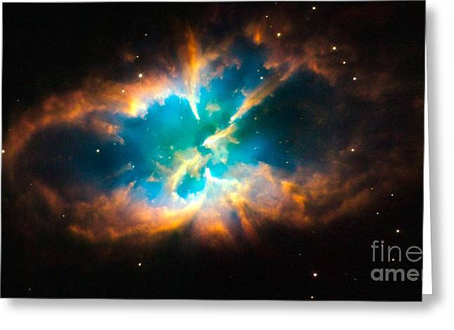 Hubble Telescope Images Greeting Cards - Nebula Ngc 2818 Greeting Card by NASA  European Space Agency