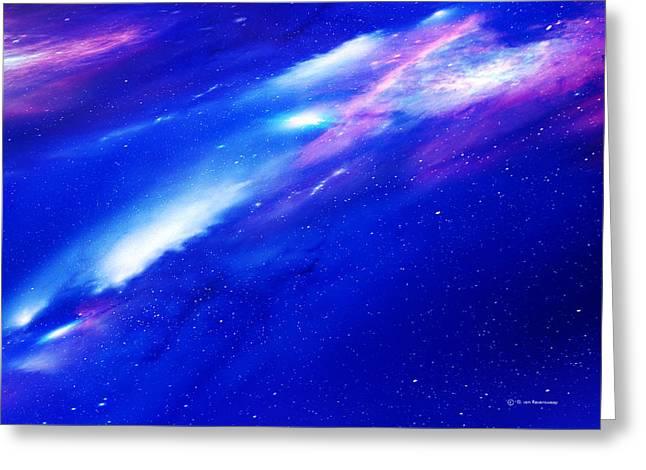 Glowing Hydrogen Greeting Cards - Nebulae Greeting Card by Detlev Van Ravenswaay