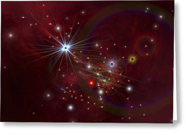 Science Greeting Cards - Nebular Clouds, Gases And Stellar Greeting Card by Corey Ford