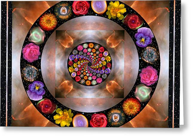 Yoga Greeting Cards - Nebulosity Greeting Card by Bell And Todd