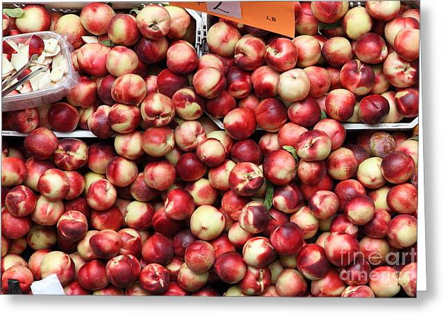 Nectarines - 5D17905 Greeting Card by Wingsdomain Art and Photography
