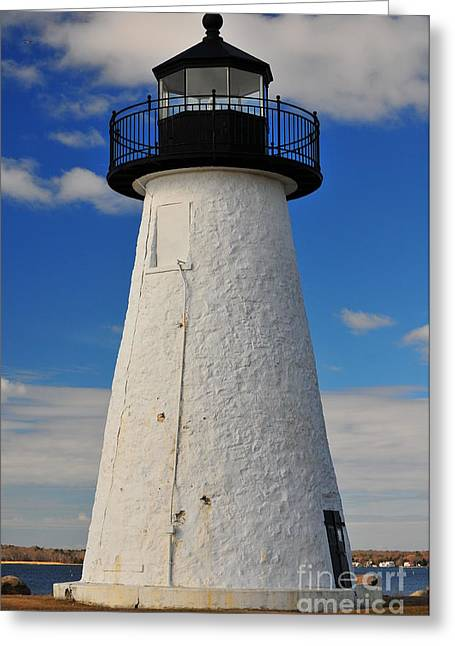 New England Ocean Greeting Cards - Neds Point Light Vertical Greeting Card by Catherine Reusch  Daley