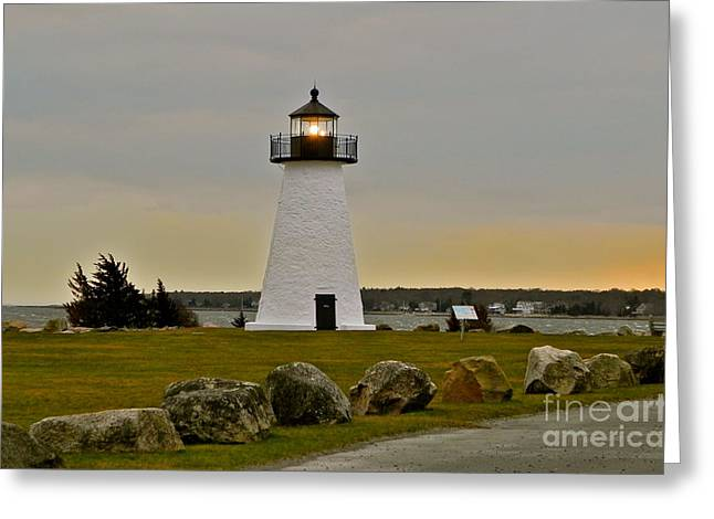 Best Sellers -  - Storm Clouds Cape Cod Greeting Cards - Neds Point Lighthouse Greeting Card by Nick Korstad