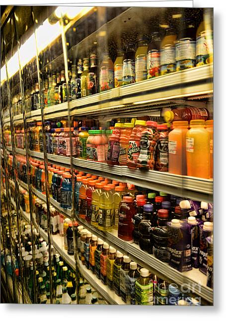 Grocery Store Greeting Cards - Need a drink? Greeting Card by Paul Ward