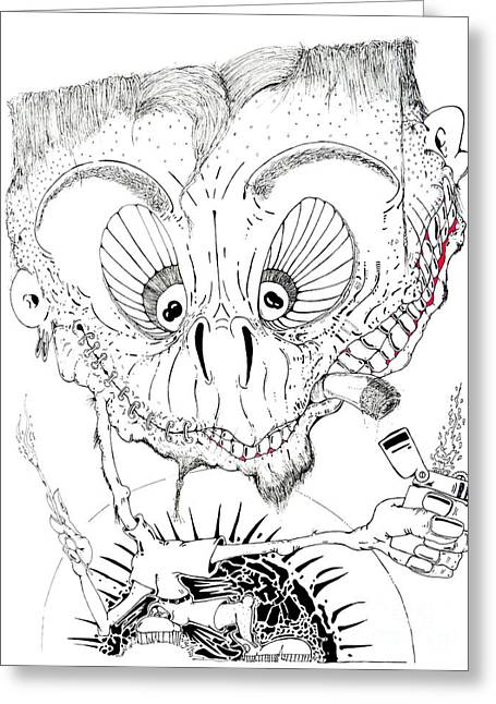 Smear Drawings Greeting Cards - Need a Light Greeting Card by Jack Norton