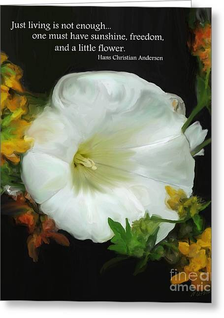 Need A Little Flower Greeting Card by Methune Hively