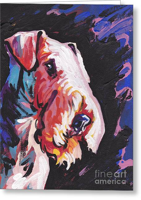 Airedale Terrier Greeting Cards - Need Some Aire Greeting Card by Lea