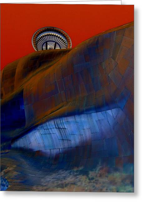 Seattle Landmarks Greeting Cards - Needle Crimson Crown Greeting Card by Randall Weidner
