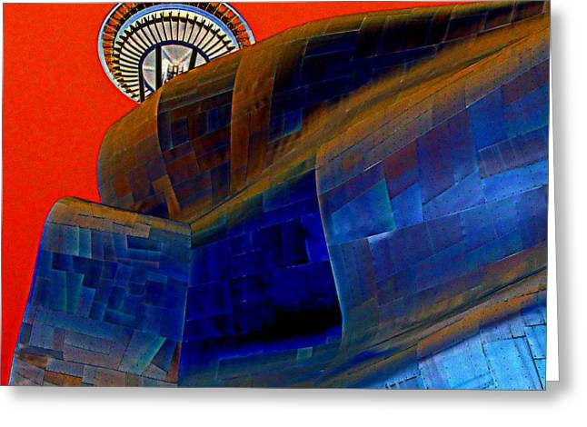 Seattle Landmarks Greeting Cards - Needle Flight Greeting Card by Randall Weidner