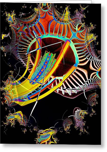 Tim Allen Greeting Cards - Needle in Fractal 2 Greeting Card by Tim Allen