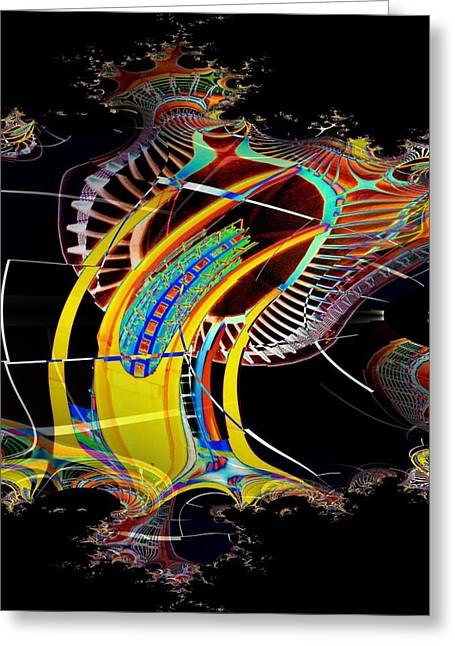Tim Allen Greeting Cards - Needle in Fractal 4 Greeting Card by Tim Allen