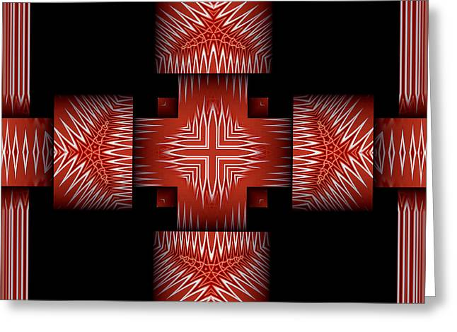 Abstract Style Greeting Cards - Neev No.3 Greeting Card by Danny Lally