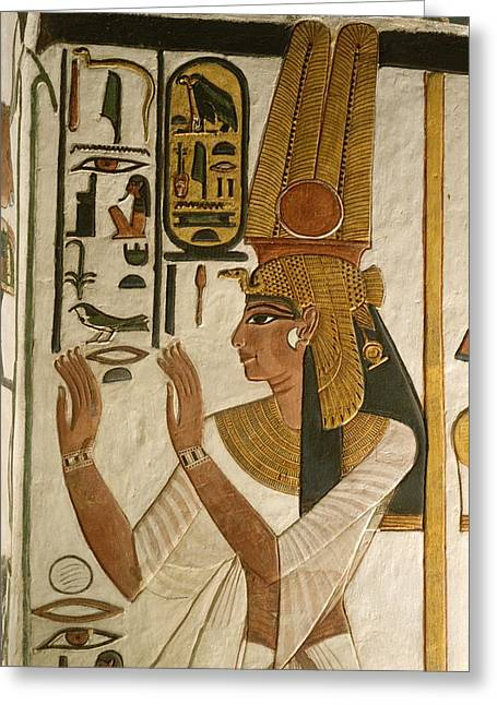 Nefertari Tomb Scenes, Valley Greeting Card by Kenneth Garrett
