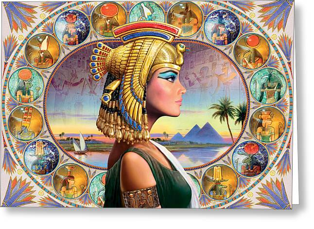 Nefertari Variant 3 Greeting Card by Andrew Farley