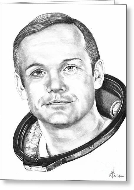Neil Armstrong Greeting Card by Murphy Elliott