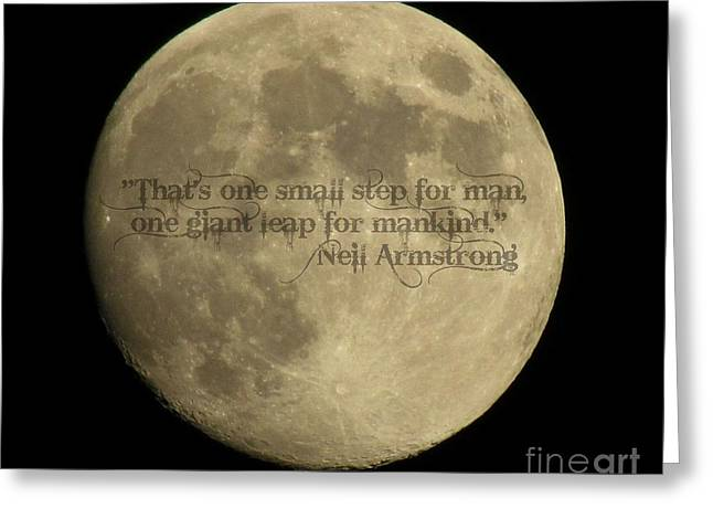 Neil Armstrong The Moon Greeting Cards - Neil Armstrong Greeting Card by Trish Clark