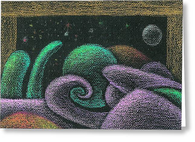 Visionary Artist Greeting Cards - Neoglyph Window Greeting Card by George  Page