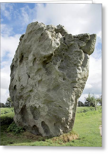 Henge Greeting Cards - Neolithic Standing Stone Greeting Card by Sheila Terry