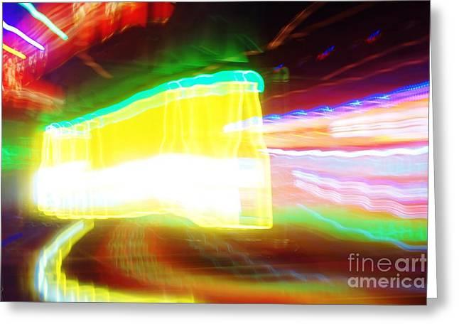 Neon Beer Greeting Card by Lynda Dawson-Youngclaus