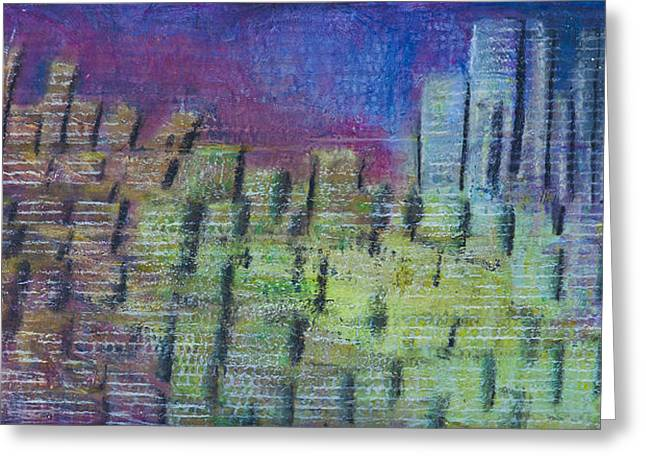 Cardboard Pastels Greeting Cards - Neon Encrusted Jewel Greeting Card by Peter Cagno