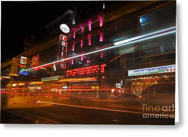 Neon Madness II Greeting Card by Pete Reynolds