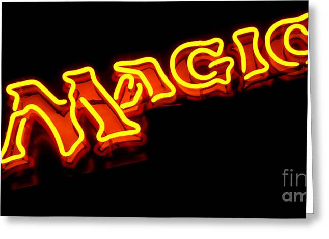 Crafts For Kids Greeting Cards - Neon Magic Greeting Card by Steven Milner