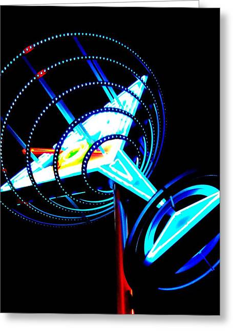 Glitter Gulch Greeting Cards - Neon Martini 1 Greeting Card by Randall Weidner