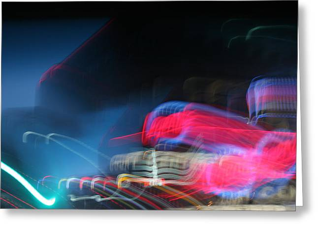 Neon Nights Greeting Card by RICK RAUZI