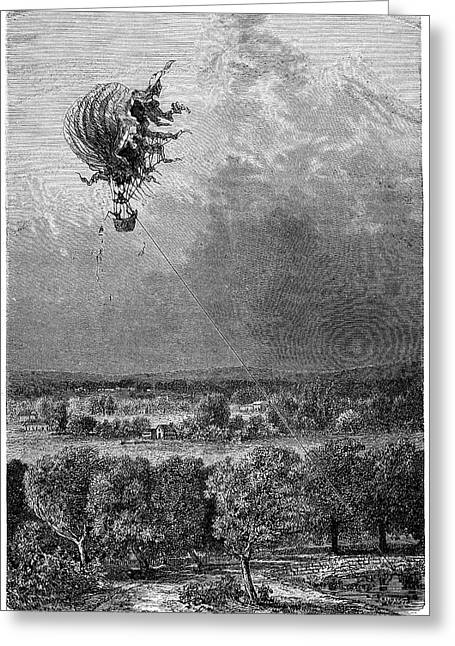 La Science Illustree Greeting Cards - Neptune Balloon Accident, 1878 Greeting Card by