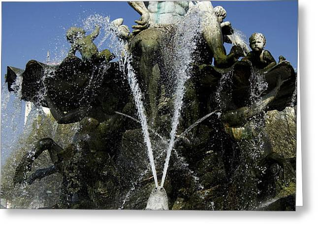 Neptune Fountain Greeting Card by RicardMN Photography