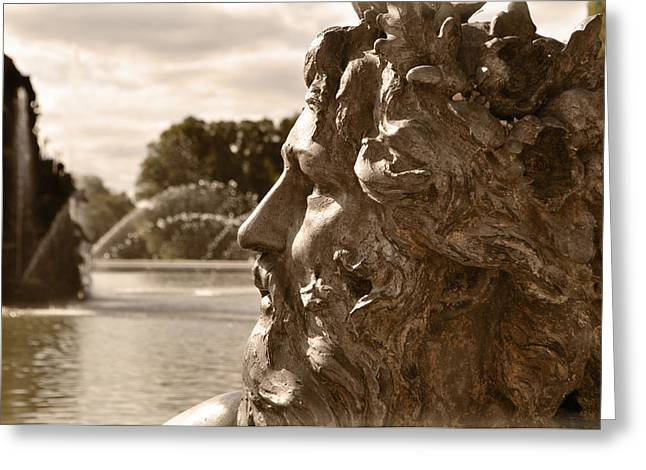 Roman Statue Greeting Cards - Neptune Greeting Card by Mary Machare