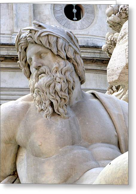 Greek Sculpture Greeting Cards - Neptune Greeting Card by Mindy Newman