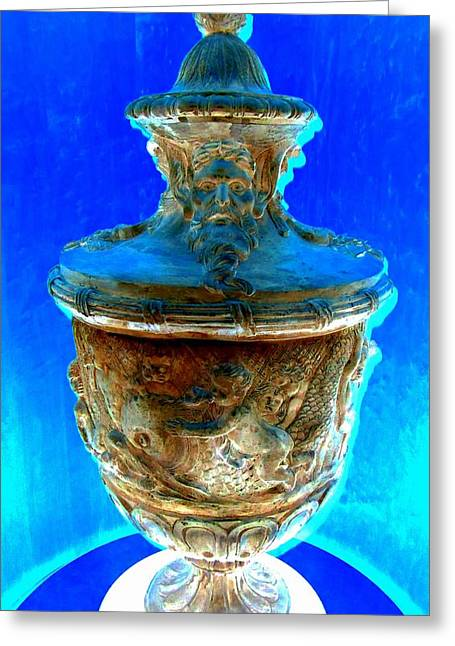 Greek Sculpture Greeting Cards - Neptunes Urn Greeting Card by Randall Weidner