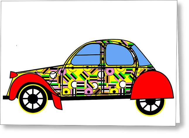 Nerds Car - Virtual Cars Greeting Card by Asbjorn Lonvig