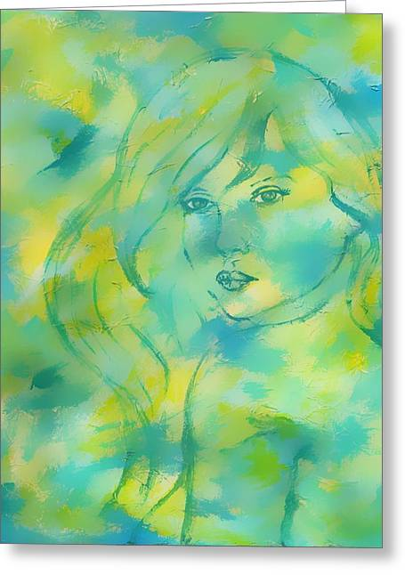 Charlotte Phillips Greeting Cards - Nerissa  Daughter Of The Sea Greeting Card by The Art With A Heart By Charlotte Phillips