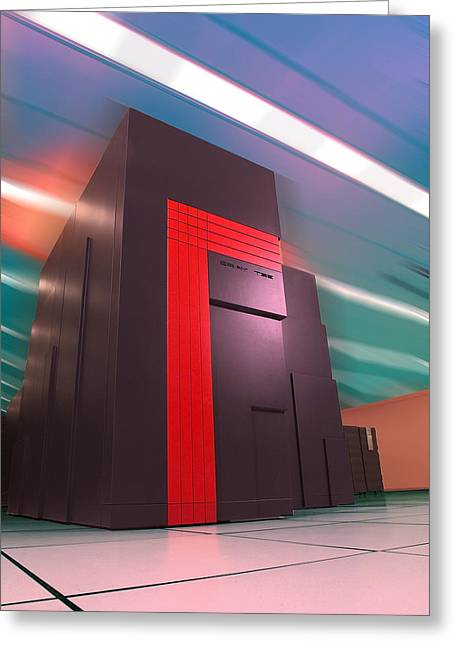 Nersc Supercomputer Greeting Card by Lawrence Berkeley National Laboratory