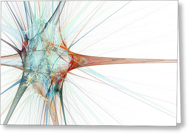 Neural Greeting Cards - Nerve Cell, Abstract Artwork Greeting Card by Laguna Design
