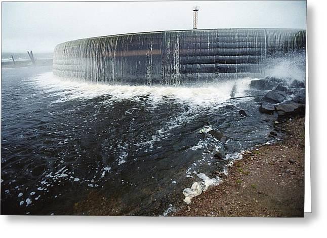 Sluice Greeting Cards - Neryungri Hydroelectric Dam, Russia Greeting Card by Ria Novosti