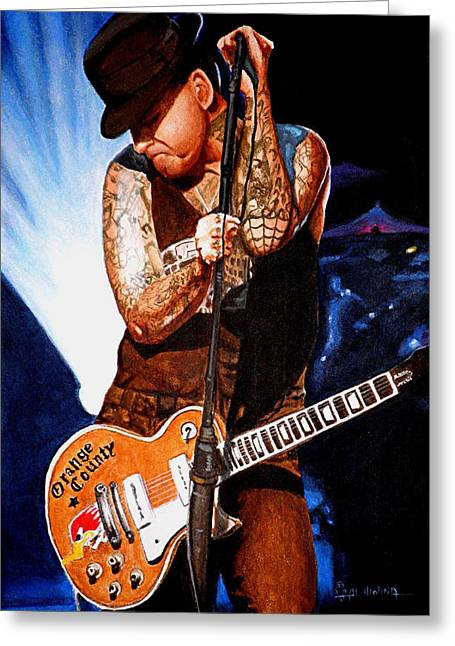 Punk Rock Music Greeting Cards - Ness at his Best Greeting Card by Al  Molina