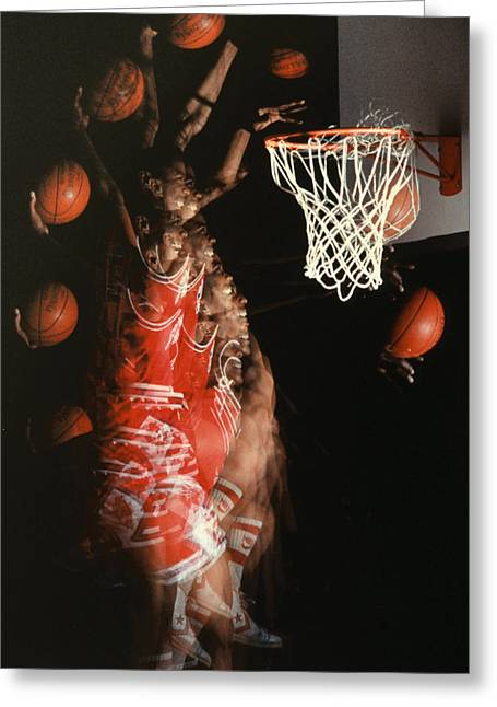 Best Sellers -  - Basket Ball Greeting Cards - Net Fever Greeting Card by Gerard Fritz