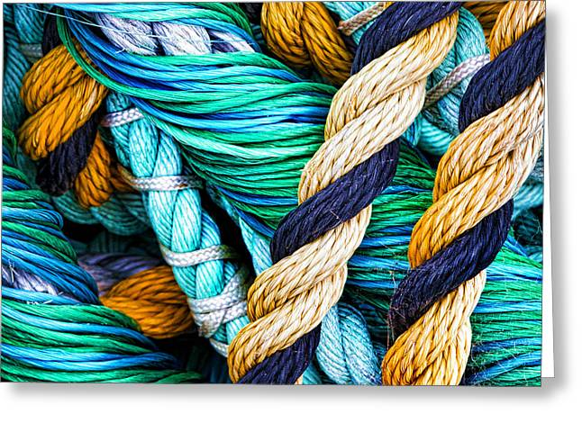 Rope Greeting Cards - Nets And Knots Number Five Greeting Card by Elena Nosyreva