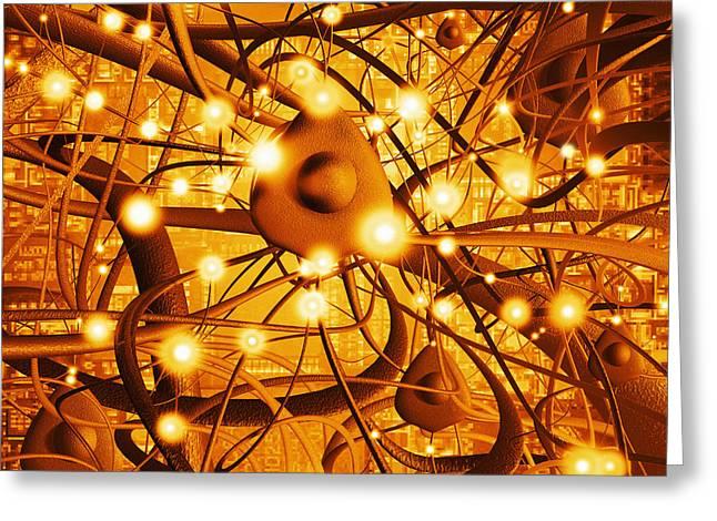 Neural Network Greeting Cards - Neural Network Greeting Card by Mehau Kulyk