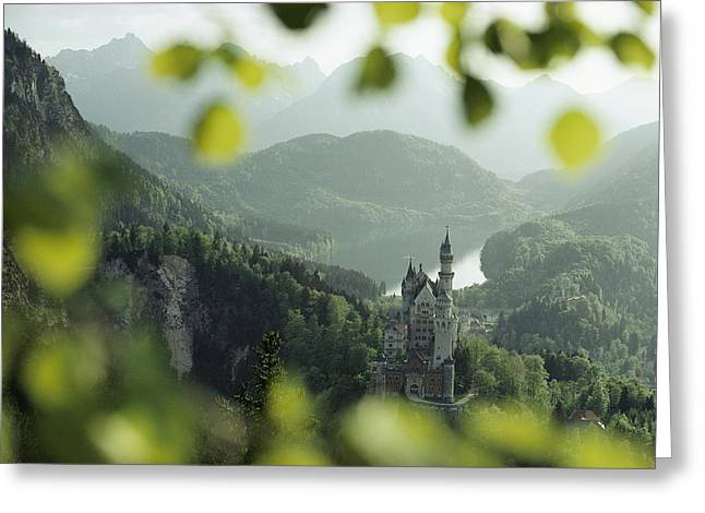 Seen Greeting Cards - Neuschwanstein Castle Of King Ludwig Greeting Card by George F. Mobley