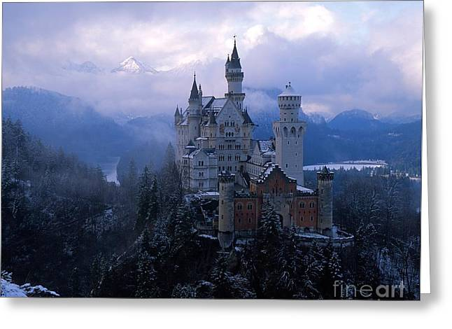 Landscape Framed Prints Greeting Cards - Neuschwanstein Greeting Card by Don Ellis