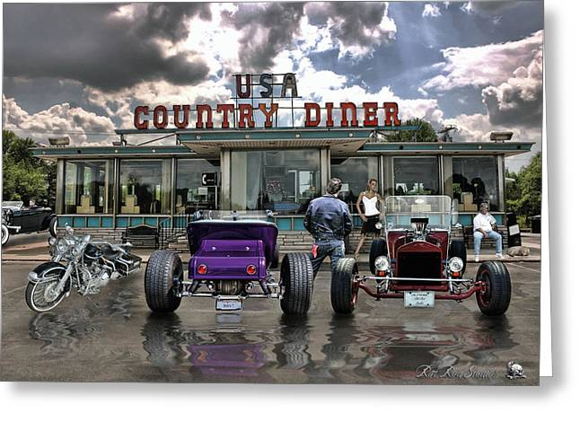 Hotrod Greeting Cards - Never Have Traveled Such Roads Of Love .... Greeting Card by Rat Rod Studios