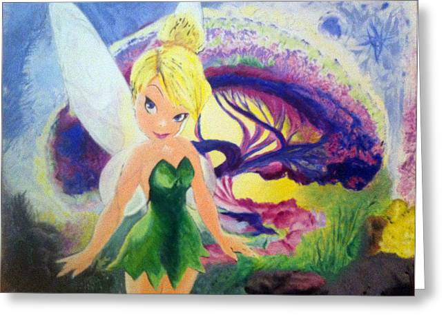 Tink Greeting Cards - Never Land Greeting Card by Timothy Eakin