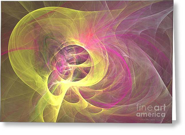 Interior Still Life Mixed Media Greeting Cards - Neverending nerve - abstract art Greeting Card by Abstract art prints by Sipo