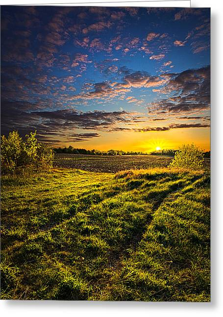 Geographic Greeting Cards - Neverland Road Greeting Card by Phil Koch